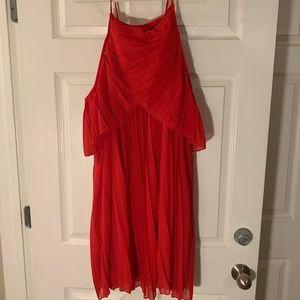 Boohoo Dresses - BooHoo Red Cold Shoulder Dress